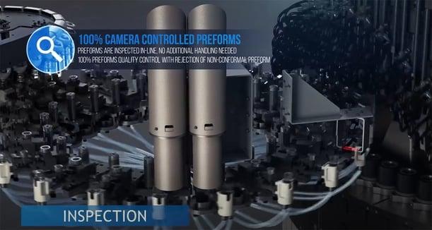 camera control PET preforms quality