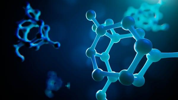 molecule of the material tritan